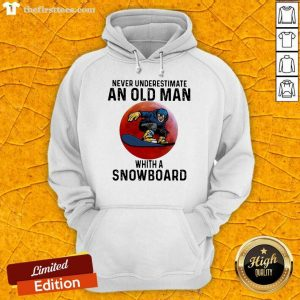 Never Underestimate An Old Man With A Snowboard THe Moon Hoodie Design By Thefirsttees.com