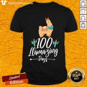 100 Llamazing Days Llama 100th Day of School Teacher Kids Shirt- Design By Thefirsttees.com