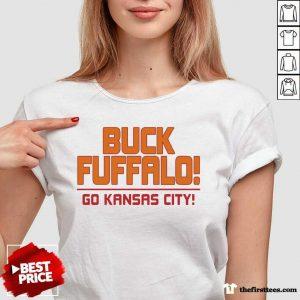 Buck Fuffalo Go Kansas City V-neck- Design By Thefirsttees.com