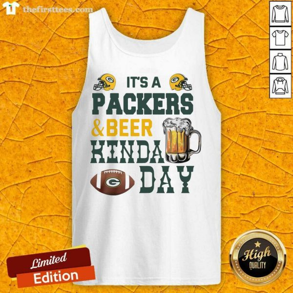Its A Packers And Beer Kinda Day Tank Top- Design By Thefirsttees.com