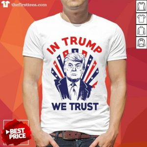American Flag In Donald Trump We Trust Shirt- Design By Thefirsttees.com