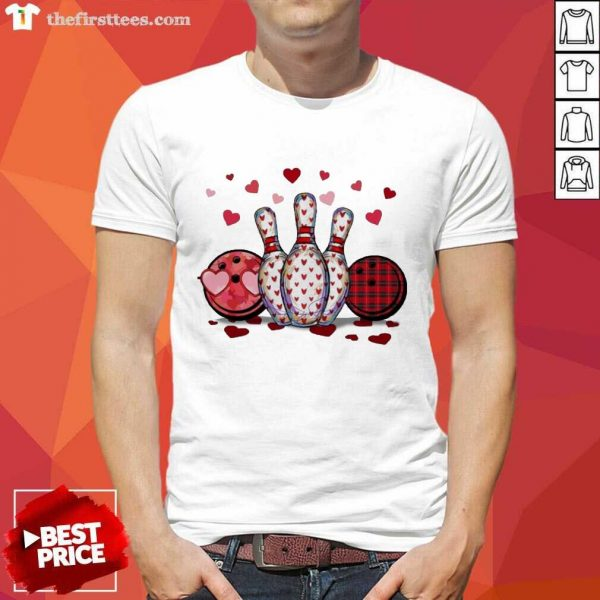 Bowling Hearts Valentine's Shirt- Design By Thefirsttees.com