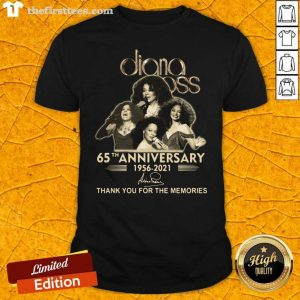 Diana Ross 65th Anniversary Thank You For The Memories Signature Shirt- Design By Thefirsttees.com