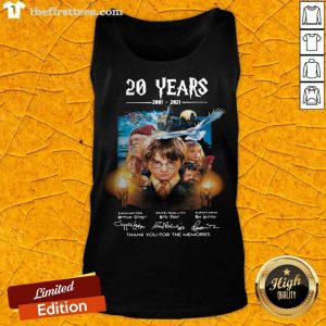 Harry Potter 20 Years 2001 2021 Thank You For The Memories Signatures Tank Top- Design By Thefirsttees.com