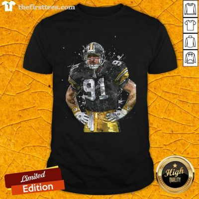 Pittsburgh Steelers Football Player 91 Nfl Playoffs Shirt - Design by Thefirsttees.com