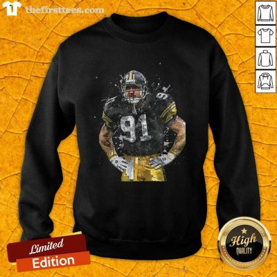 Pittsburgh Steelers Football Player 91 Nfl Playoffs Sweatshirt - Design by Thefirsttees.com