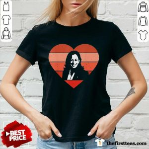 Kamala Harris Inauguration Day 2021 Saint Valentine Heart V-neck- Design By Thefirsttees.com