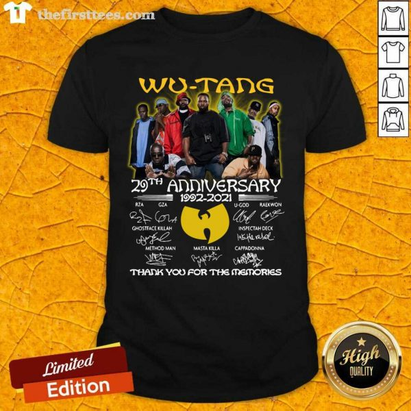 The Wu-Tang 29th Anniversary 1992 2021 Signatures Thank Shirt- Design By Thefirsttees.com