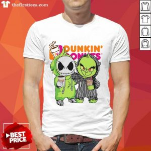 Baby Jack Skellington And Grinch Love Dunkin' Donuts Shirt- Design By Thefirsttees.com