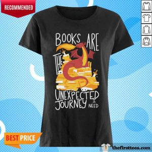 Dragon Books Are The Unexpected Journey I Need V-neck- Design By Thefirsttees.com