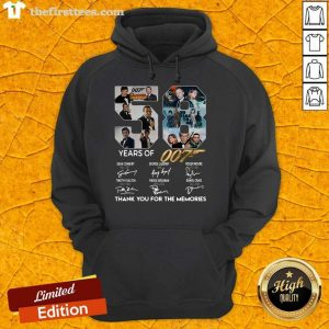 58 Years Of 007 Thank You For The Memories Signatures Hoodie- Design By Thefirsttees.com