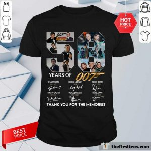 58 Years Of 007 Thank You For The Memories Signatures Shirt- Design By Thefirsttees.com