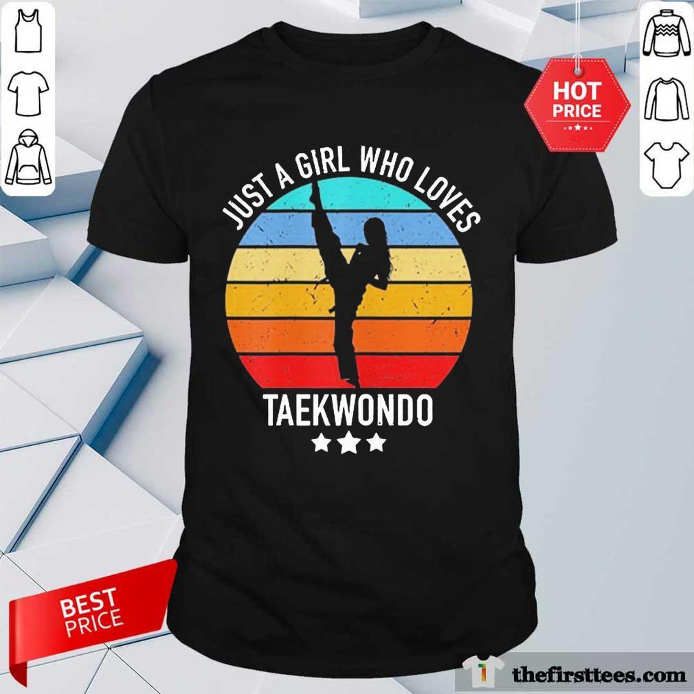 Premium Vintage A Girl Loves Taekwondo Shirt