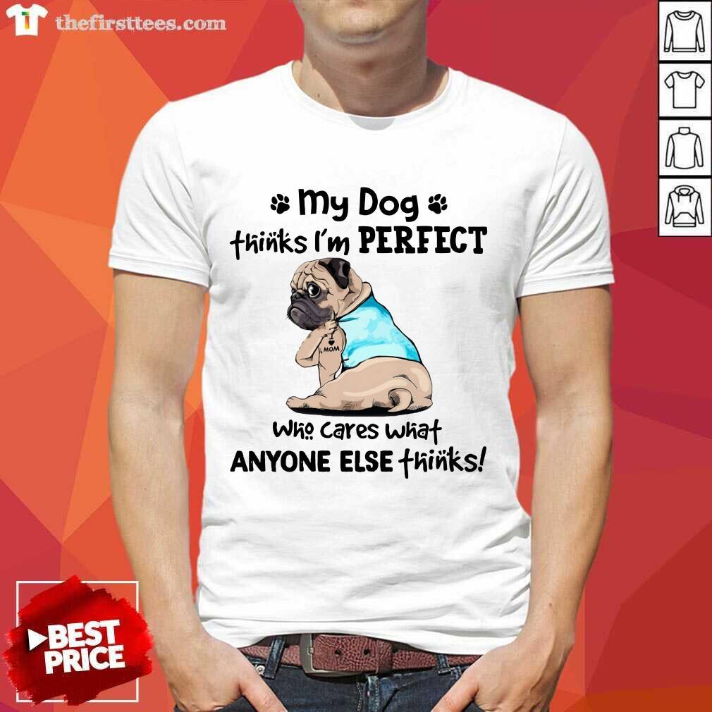 I'm Perfect Pug I Love Mom Tattoos Shirt