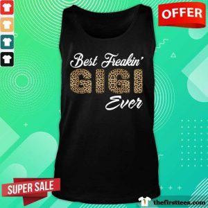 Best Freakin Gigi Ever Leopard Skin Tank Top