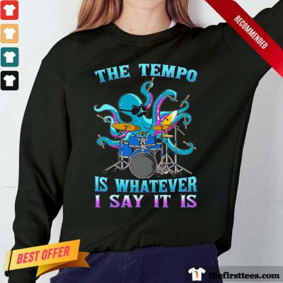 Drummer Octopus The Tempo Long-Sleeved