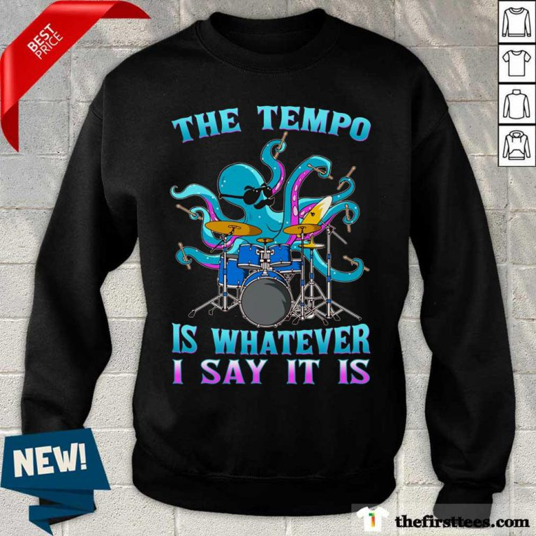 Drummer Octopus The Tempo Sweater