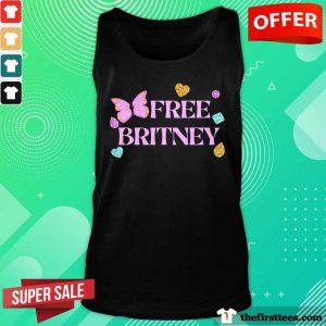 Free Britney Butterfly Heart Tank Top