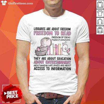 Freedom To Read Books Elephant Shirt