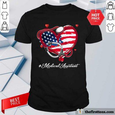 Heart American Flag Medical Assistant Shirt
