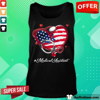 Heart American Flag Medical Assistant Tank Top