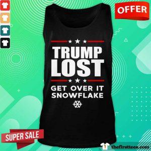 Hot Trump Lost Get Over It Snowflake Tank Top