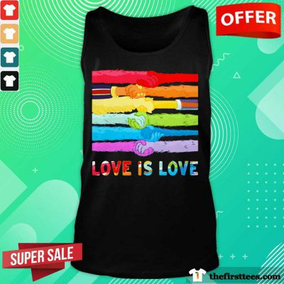 LGBT Love Is Love Hold Hand Tank Top
