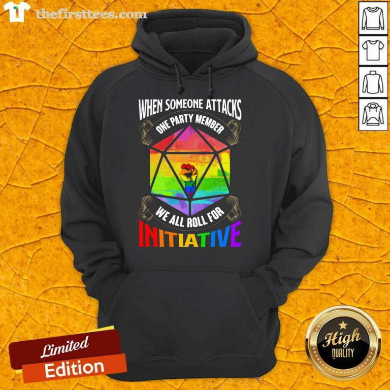 LGBT When Someone Attacks Initiative Hoodie
