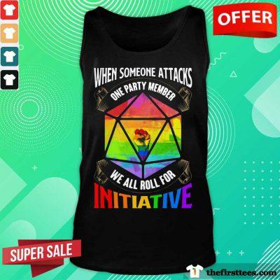 LGBT When Someone Attacks Initiative Tank Top