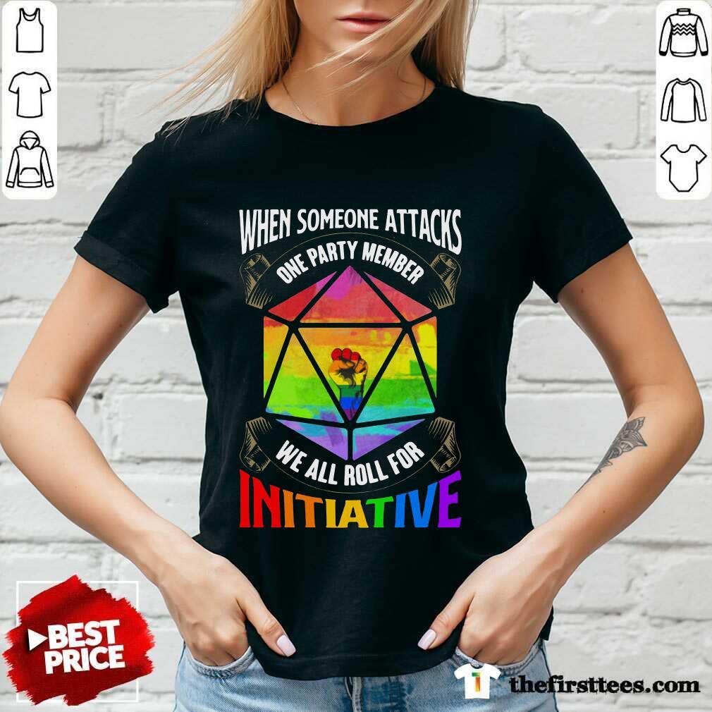 LGBT When Someone Attacks Initiative V-Neck