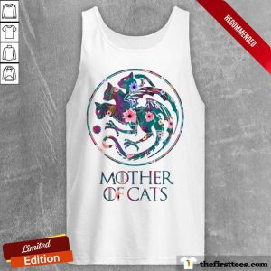 Mother Of Cats Mix Flower Tank Top