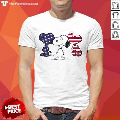 Snoopy American Flag Shirt