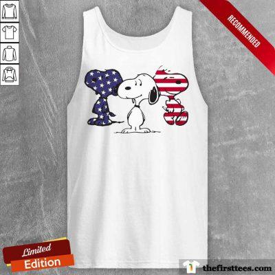 Snoopy American Flag Tank Top