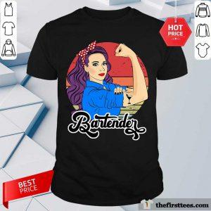Strong Girl Bartender Vintage Shirt