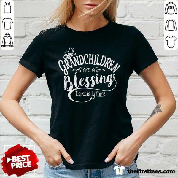 Grandchildren Are A Blessing Especially Mine V-Neck