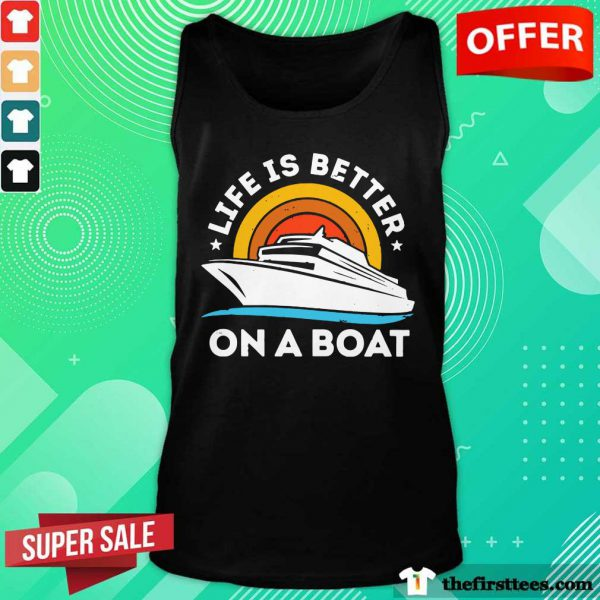 Life Is Better On The Boat Vintage Tank Top