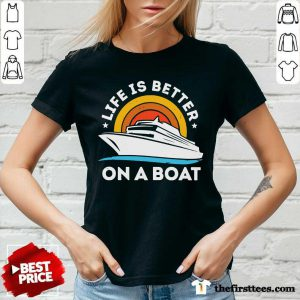 Life Is Better On The Boat Vintage V-Neck