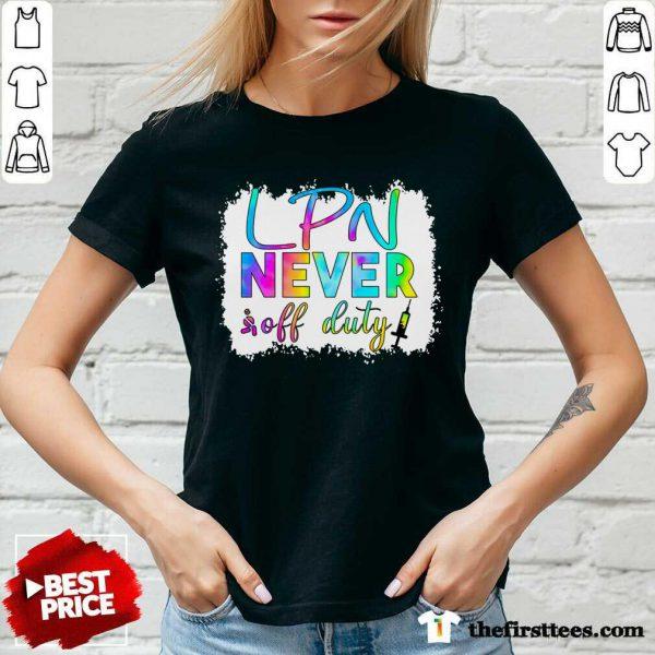 LPN Never Off Duty Color V-neck