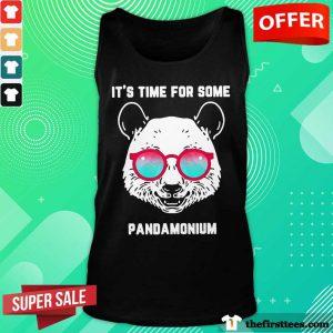 Panda It's Time For Some Pandamonium Tank Top