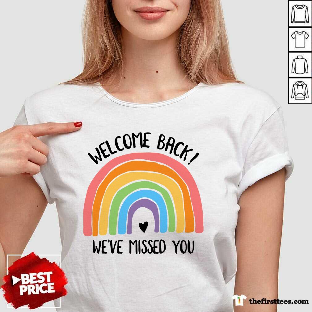 Rainbow Welcome Back We've Missed You V-Neck