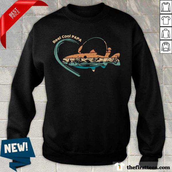 Reel Cool Papa Fishing Vintage Sweatshirt
